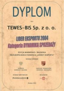 Dyplom Lider Eksportu