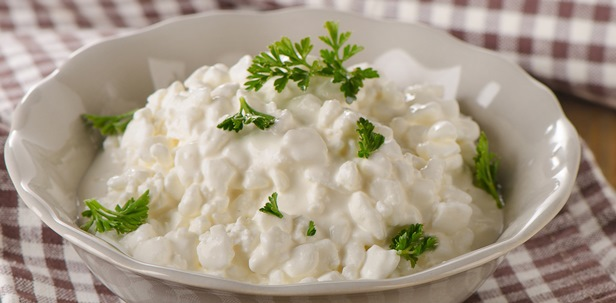 Fresh Cottage cheese with fresh herbs