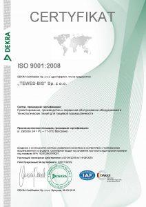 TEWES BIS ISO 9001 PL